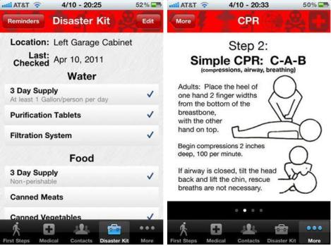 Disaster prep app