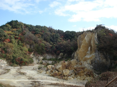 The Arita Izumiyama quarry, where porcelain clay Kaolin was discovered about 400 years ago, which marked the beginning of Arita`s (and Japan`s) porcelain history.